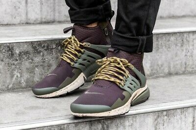 brand new d9eb2 87ea9 Men s Nike Presto Utility Mid Sneakers New, Velvet Brown 859524-200