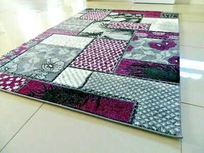 Purple Modern Luxury Thick Hand Carved Soft Heavy Large Area Rug Runner Mat