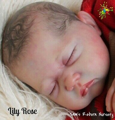 "**lily Rose** 21""- 22""  Soft Unpainted Reborn Vinyl Doll Kit   **body Optional**"