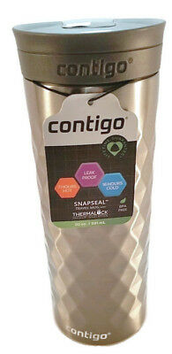 Contigo 20 oz. Snapseal Kenton Stainless Steel Travel Mug Gunmetal *SPILLPROOF**