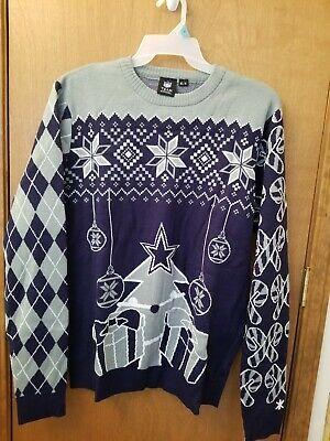 size 40 dbe93 2f458 DALLAS COWBOYS NFL Football Ugly Cardigan Christmas Xmas ...