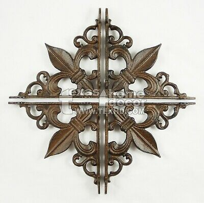 4 Fleur De Lis Shelf Brackets Door Accent Braces Rustic Garden 7.5 x 7.5 inch