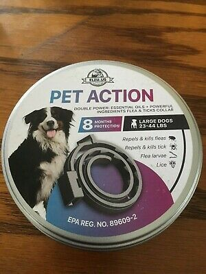 Pet Action Large Dog Flea and Tick Collar 8 Month Protection