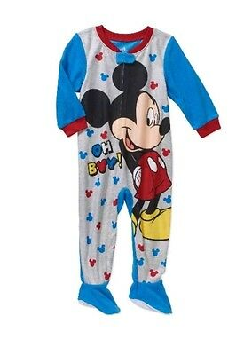Disney Mickey Mouse Footed Pajama Blanket Sleeper Baby Boy s Size 9 Months  NWT ffdd4aa0e