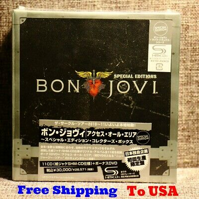 Bon Jovi 11 CDs+1 DVD Box Set Complete Collection Special Edition Music Boxset