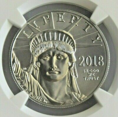 2018 1 oz Platinum American Eagle NGC MS70 Early Releases Standard Blue Label