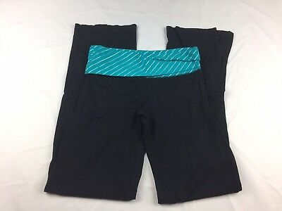 Preowned Woman's Xsmall Black And Teal SO Sweat Pants