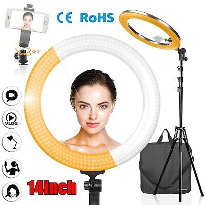 """14"""" LED Ring Light with Stand Dimmable LED Lighting Kit For Makeup Youtube"""