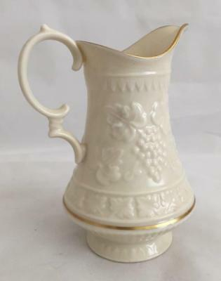 "5"" Lenox China Creamer Ivory Grape and Vine Gold Trim Made in USA"