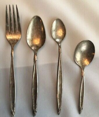 Rogers Bros IS 1847 4 Piece Silverplate Flatware Fork Spoons