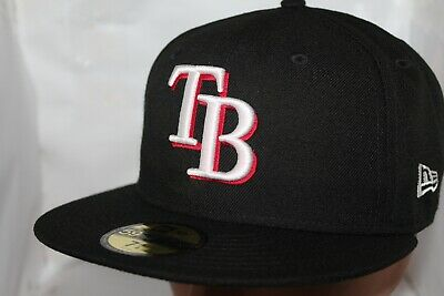 half off 47540 a2d19 Tampa Bay Rays New Era MLB Black Red Out 59Fifty,Cap,Hat   37.99