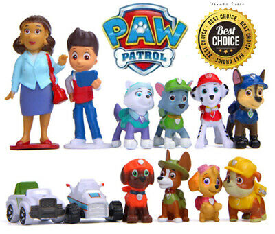 12 PCS Paw Patrol Toys Pup Rescue Action Figure Cake Toppers BirthDay