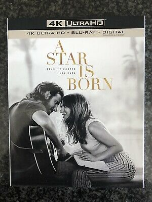 A Star Is Born 4K + Blu Ray + Digital + Slipcover Brand New