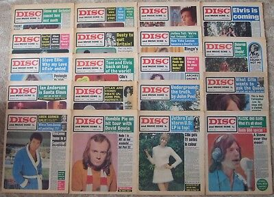"""""""disc And Music Echo"""" Newspapers / Magazines, 1969-70, Multi-Listing"""
