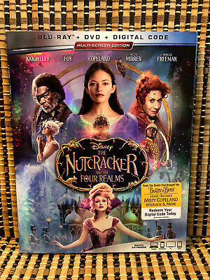 The Nutcracker And The Four Realms (2-Disc Blu-ray/DVD, 2019)+Slipcover.Disney/4