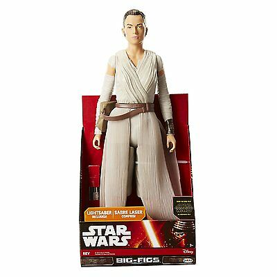 "Neu Star Wars Episode VII 18 "" Rey mit Lichtschwert Big-Figs Actionfigur"