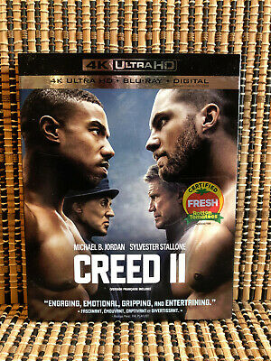 Creed II 4K (1-Disc Blu-ray, 2019)+Slipcover.Rocky 8.Stallone.Michael Jordan