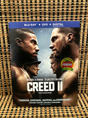 Creed II (2-Disc Blu-ray/DVD, 2019)+Slipcover.Rocky 8.Stallone.Michael Jordan