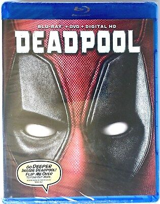 Deadpool ~ New And Sealed Blu-Ray / Dvd / Digital Hd 2 Discs Widescreen Edition