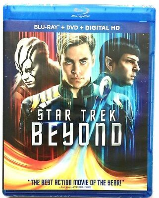 "Brand New & Sealed ~ Star Trek ""beyond"" ~ Blu-Ray + Dvd + Digital Hd Movie Discs"