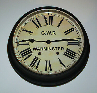 Great Western Railway, GWR Victorian Style Waiting Room Clock, Warminster.