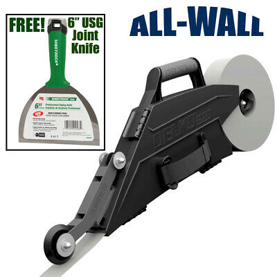 "Delko Zunder Drywall Banjo Taper w/ FREE USG Sheetrock 6"" Pro Series Joint Knife"
