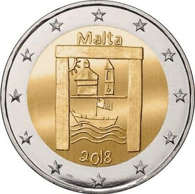 2 euros commemorative Malte 2018 Patrimoine Culturel disponible
