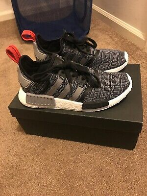 63f4420a965d2 ADIDAS NMD R 1 Grey Orange Charcoal Reflective S31510 Men Size 7-13 ...