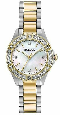 Bulova 98R236 Two Tone Stainless Steel Ladies Watch (J5)