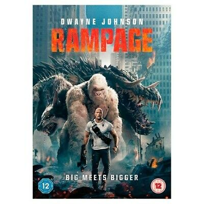 Rampage DVD, 2018, Region 2, Fast post.