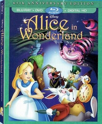ALICE IN WONDERLAND (DVD+BluRay) NEW! (No Digital) W/ SLIPCOVER *FAST FREE SHIP*