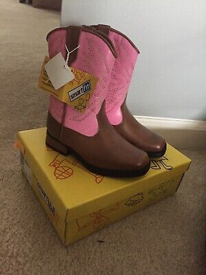 41cfcb20f5a SMARTFIT GIRLS COWBOY Boots Pink Brown Western Cowgirl Boot Rodeo Size 7 1/2