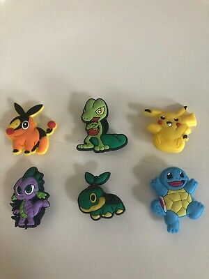 Set of 6 Pokemon shoe charms, new