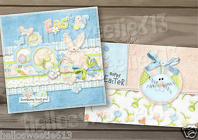 1-10 Quality Hoppy Hearts Easter Greeting Card Or Thank You Cards
