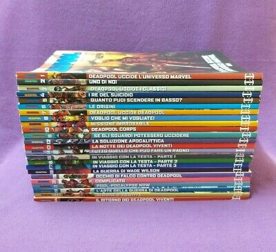 Collection Fumetti Comic Books Supereroi Marvel Deadpool Serie Oro 1-24 Panini