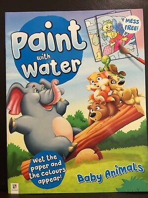 New - Paint With Water - Baby Animals - Great Fun For The Children