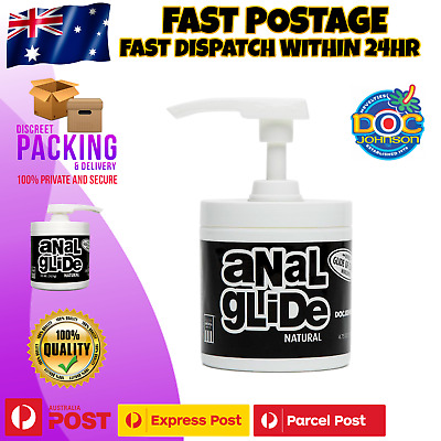 Doc Johnson Anal Glide Natural SEX Lube Premium Personal Lubricant Pump 4.75 Oz