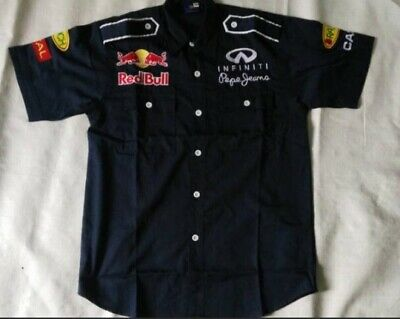 2019 Redbull Embroidery EXCLUSIVE F1 team racing Short-shirt
