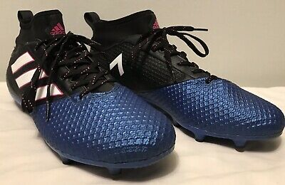 timeless design c4514 616c4 ADIDAS BLACK BLUE Ace 17.3 Primemesh FG Size 9.5 Mens Soccer Cleats Size9.5  EUC.