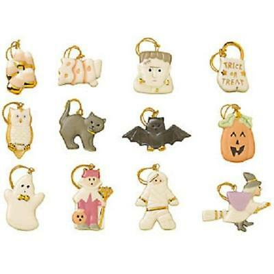 LENOX ~ HALLOWEEN ~ Trick or Treat Ornaments set of 12 for tree Ghost Witch NEW
