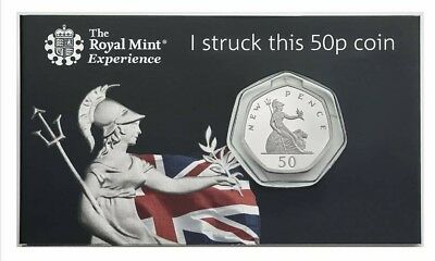 Royal Mint STRIKE YOUR OWN COIN Britannia 50p Fifty Pence 2019 bonus air coin