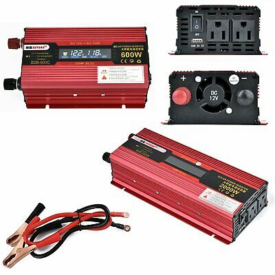 Car LED Power Inverter DC 12V To AC 110V  Electronic Converter 600W/1000W/2000W