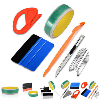Car 5M Finish Line Tape Pro Squeegee, Graphic Vinyl Cutting Trim Wrap Tool Kits
