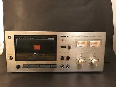 Sankyo STD-1700 Cassette Tape Deck Vintage Audio - Works Great - Cleaned Heads