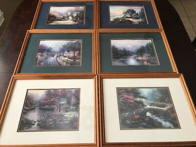 Nice Lot Of 6 Accent Print by Thomas Kinkade Matte 11 x14 Framed Art 7x9 Picture