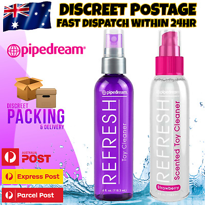 Pipedream Refresh Adult Sex Toy Cleaner Antibacterial Disinfect Spray Bottle NEW