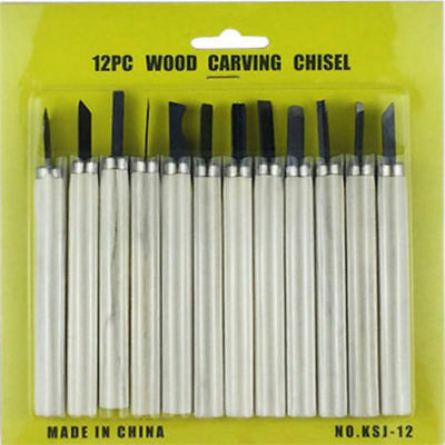Wood Carving Hand Chisel Professional Woodworking Gouges Steel Tool Set BS