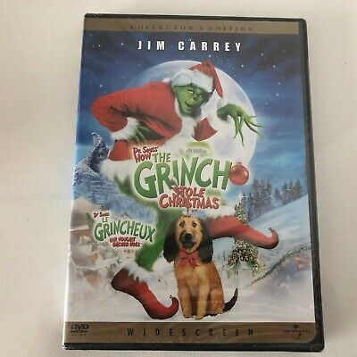 Dr Seuss` How The Grinch Stole Christmas Jim Carrey New Sealed
