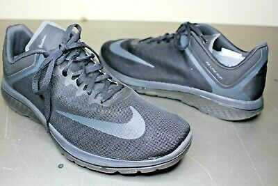5d619a89f06 Nike FS Lite Run 4 Mens 852435-003 Black Anthracite Running Shoes Size 14