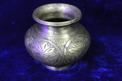 Old Vintage Antique Indian Brass Holy Water Pot Collectible PS25
